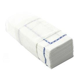 """Serviette papier """"Zigzag"""" Blanc Bordure 14x14cm (30000 Unités)"""