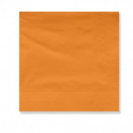 Serviette en Papier Ouate 30x30cm Orange (100 Utés)