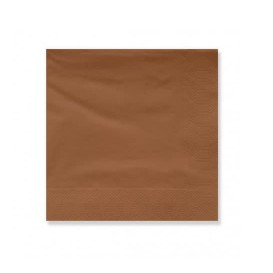 Serviette Papier à Cocktail 20x20cm Marron (100 Utés)