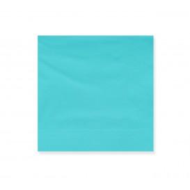Serviette Papier à Cocktail 20x20cm Turquoise (100 Utés)