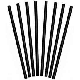 Paille pour Granités  Ø8mm 25cm Noire (10.000 Pièces)