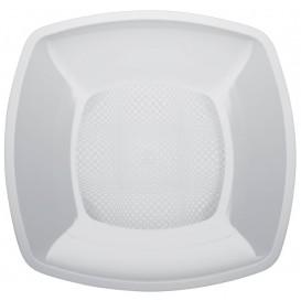Assiette Plastique Lisse Blanc 180mm (150 Utés)
