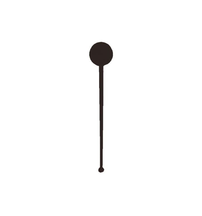 Agitateur à Boisson Plastique Noir 175mm (100 Unités)