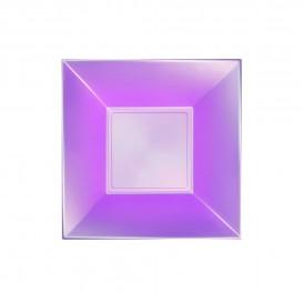 Assiette Plastique Creuse Violet Nice Pearl PP 180mm (300 Utés)