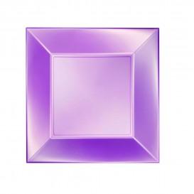 Assiette Plastique Plate Violet Nice Pearl PP 230mm (25 Utés)