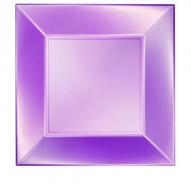 Assiette Plastique Plate Violet Nice Pearl PP 290mm (12 Utés)