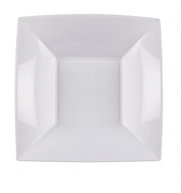 Assiette Plastique Creuse Blanc Nice PP 180mm (25 Utés)