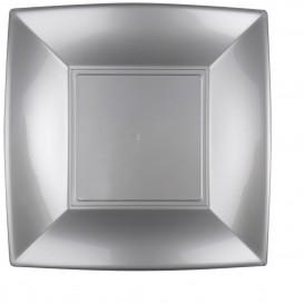Assiette Plastique Plate Gris Nice PP 290mm (12 Utés)