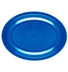 Plateau Ovale Bleu Mediterranée Round PP 305mm (300 Utés)