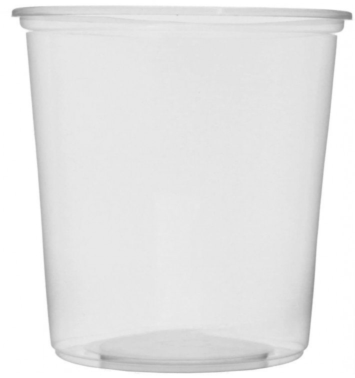 Pot en Plastique Transparent 500 ml Ø10,5cm (50 Unités)
