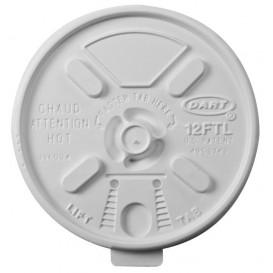 "Couvercle ""Lift n' Lock"" PS Blanc Ø8,9cm (100 Utés)"