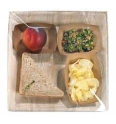 Assiette carrée en Feuilles de Palmier 27x27cm (60 Unités)