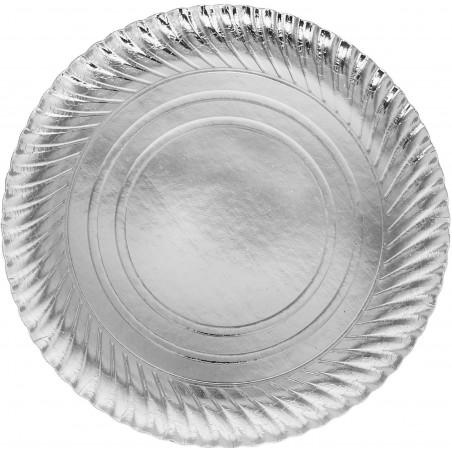 Assiette ronde Carton Argenté 300mm (200 Unités)