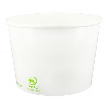 Pot à glace en carton 8oz/240ml Bleu (50 Utés)