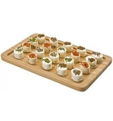Plateau Cocktail en Bambou Naturel 32,5x26,5x1cm (10 Utés)