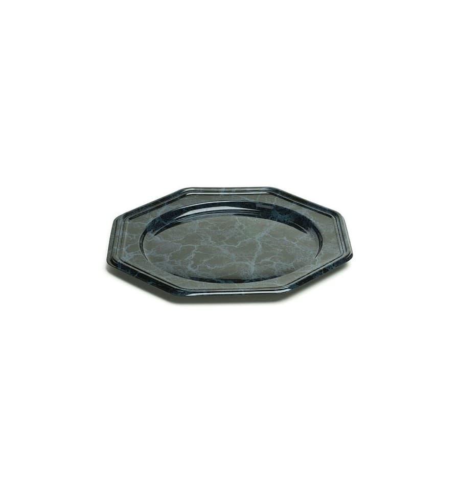 dessous d 39 assiette plastique octogonal marbr 30 cm 50 ut s. Black Bedroom Furniture Sets. Home Design Ideas