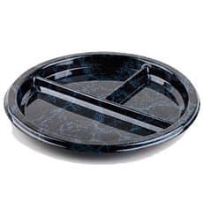 Assiette en Plastique Rond 3 compartiments Marbré 26 cm (250 Utés)