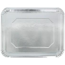 Plat rectangulaire en Carton Argenté 34x42cm (200 Unités)