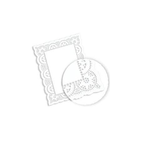 Dentelle Rectangle en papier 14x24cm (2000 unités)