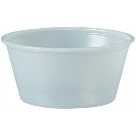 Pot à Sauce Plastique PS Trans. 100ml Ø7,3cm (2500 Utés)