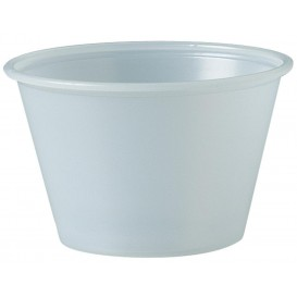 Pot à Sauce Plastique PS Trans. 120ml Ø7,3cm (2500 Utés)