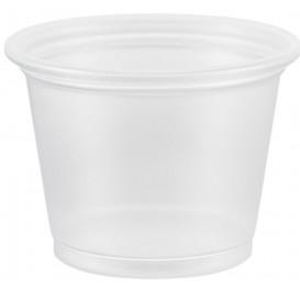 Pot à Sauce Plastique PP Trans. 30ml Ø4,8cm (2500 Utés)