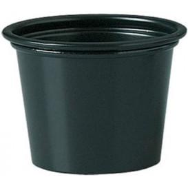 Pot en Platique PP à Sauce Noir 30ml Ø48mm (250 Unités)