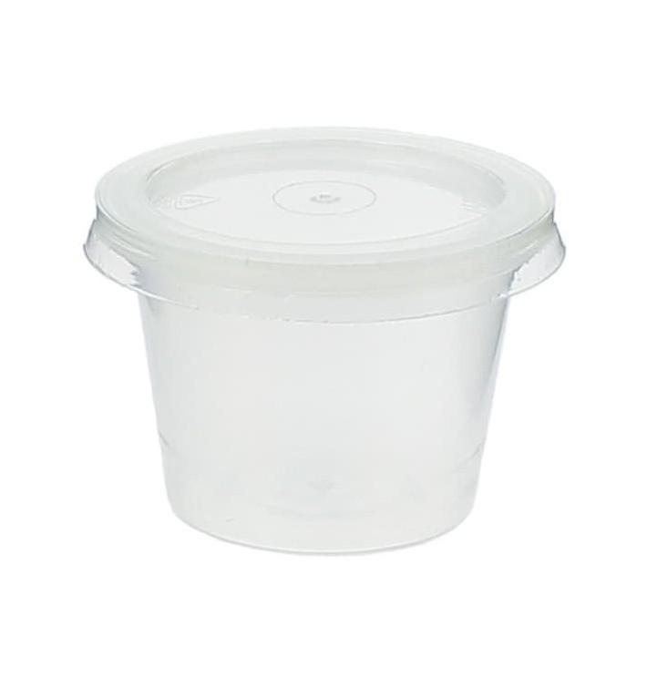 Pot à Sauce Plastique PP avec Couvercle 33ml (100 Utés)