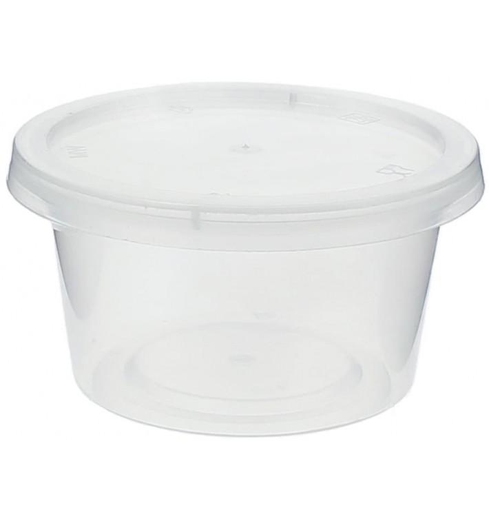 Pot à sauces en plastique avec Couvercle 120ml (1.000 Utés)