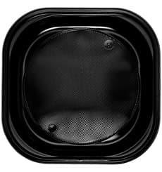 Assiette Plastique Carrée PS Noir 200x200mm (30 Utés)