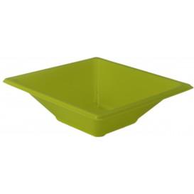 Bol carré en plastique Pistache 120x120x40mm (25 Utés)