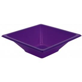 Bol carré en plastique Lilas 120x120x40mm (1500 Utés)