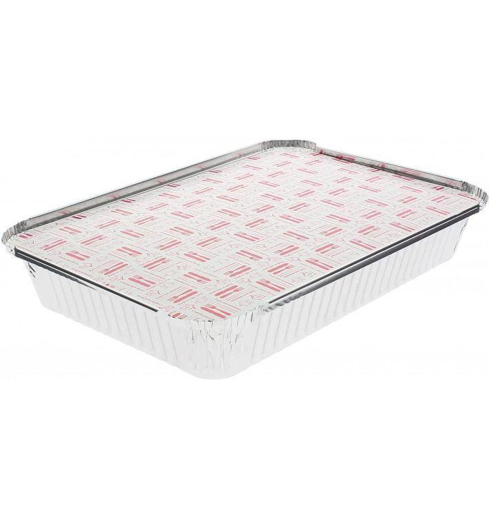 Couvercle Carton Barquette Aluminium 2200ml (100 Unités)