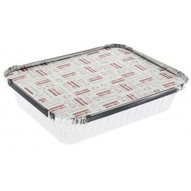 Couvercle Carton Barquette Aluminium 640ml (500 Unités)