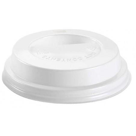 Couvercle avec passage Gobelet Carton 10oz/300ml Ø8,4cm (100 Unités)