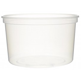 Pot en Plastique Transparent 500ml (50Utés)