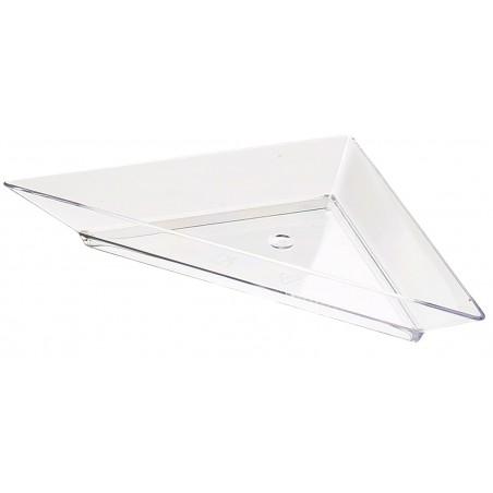 Assiette Triangulaire Dégust.Transp 5x10cm (8 Unités)