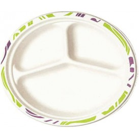 Assiette Chinet 3 Compartiments 260mm Flavour (540 Utés)