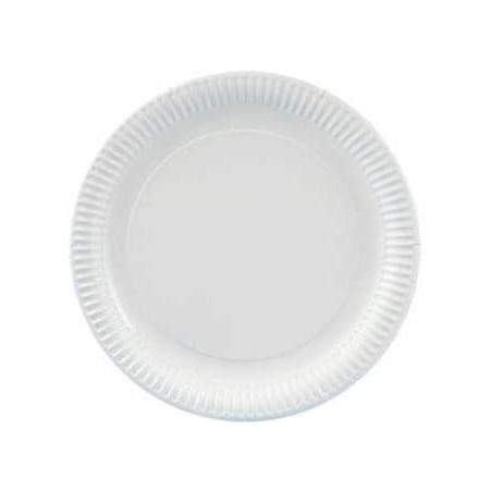 Assiette ronde en Carton 210mm (100 Unités)