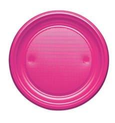 Assiette Plastique PS Plate Fuchsia Ø170mm (50 Unités)
