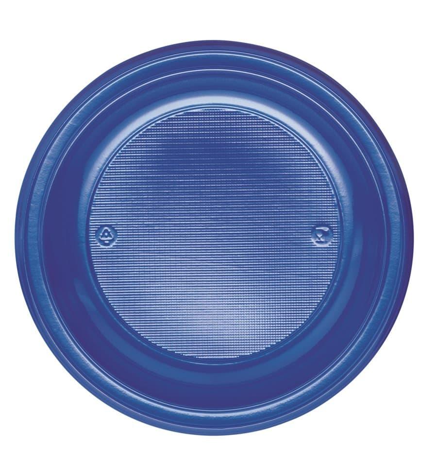 assiette plastique ps plate bleu fonc 220mm 30 unit s. Black Bedroom Furniture Sets. Home Design Ideas