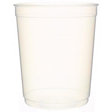 Pot en Plastique Transparent 1000ml  Ø11,5cm (50 Utés)