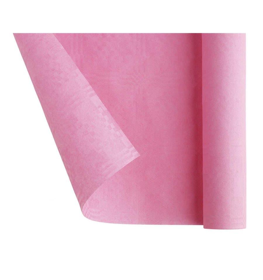 nappe en papier en rouleau rose 1 2x7m 25 ut s. Black Bedroom Furniture Sets. Home Design Ideas
