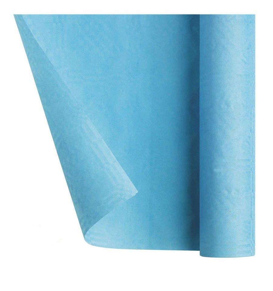 nappe en papier en rouleau bleu clair 1 2x7m 25 ut s. Black Bedroom Furniture Sets. Home Design Ideas