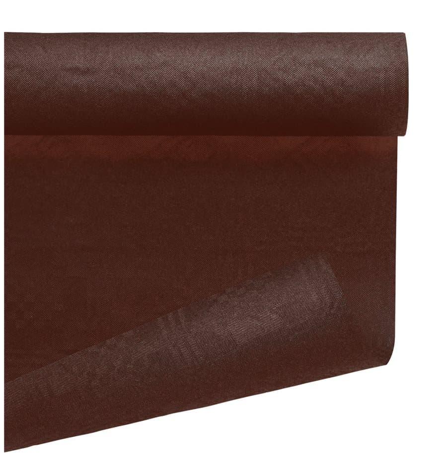Nappe en papier en rouleau chocolat 1 2x7m 1 ut - Nappe de noel en papier ...