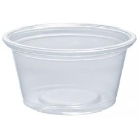 Pot à Sauce Plastique PP Trans. 25ml Ø4,8cm (125 Utés)