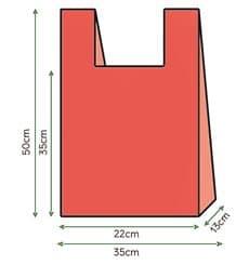 Sac à Bretelles 35x50cm Rouge (1000 Unités)