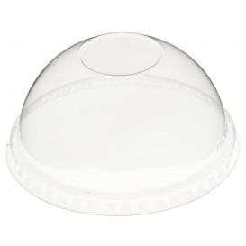 Couvercle Dôme Fermé PET Cristal Ø9,3cm (100 Utés)