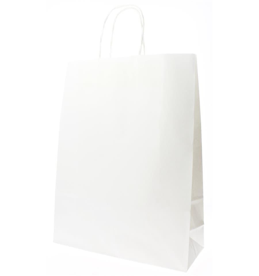 sac en papier blanc avec anses kraft 100g 32 12x41cm 200 ut s. Black Bedroom Furniture Sets. Home Design Ideas