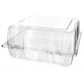 Boîte à charnière Pour Pâtisserie PET 20x20x10cm (220 Utés)